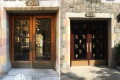 Entrance External Outdoor Building Door Repair Refinishing Restoring