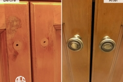 Kitchen Cabinet Door Repair Maintenance Finish Peeling Touch up Improvement