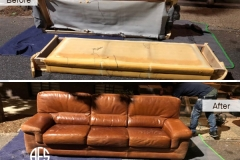 Leather Furniture Assemble and Reassemble sofa couch Disassembling breal apart fit into tight space moving Disassembly