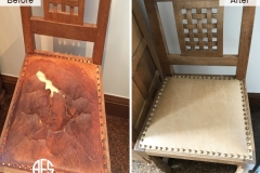 Leather-dining-room-Chair-Seat-Nail-head-Antique-upholstery-replacing-color-change