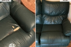 Leather dry cracking damaged burned replacing part section upholstery chnage repair