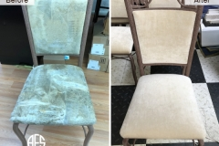 Metal Upholstered Chair Reupholstery fabric replacement furniture