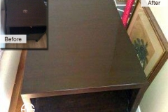 Nail polish remover damage wood top repair nightstand