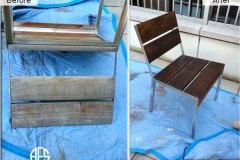 Outdoor chair repair teak oil finishing