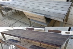 Outdoor exterior furniture maintenance cleaning