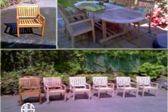 Outdoor furniture restoration refinishing teak oil