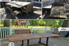 Outdoor table teak oil cleaning