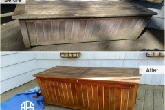 Outdoor wood finishing teak bench