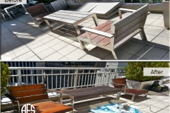 Patio outdoor backyard furniture repair restoration teak