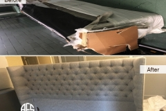 king size tufted wing back headboard disassembly take apart