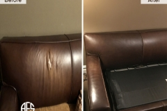 leather partial reupholstery section part replacement match leather dye fix repair tear crack damage back seat furniture