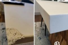 stone marble granite concrete top crack chip corner damage repair fill shape